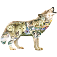 Meadow Wolf -  jigsaw puzzle of 750 pieces