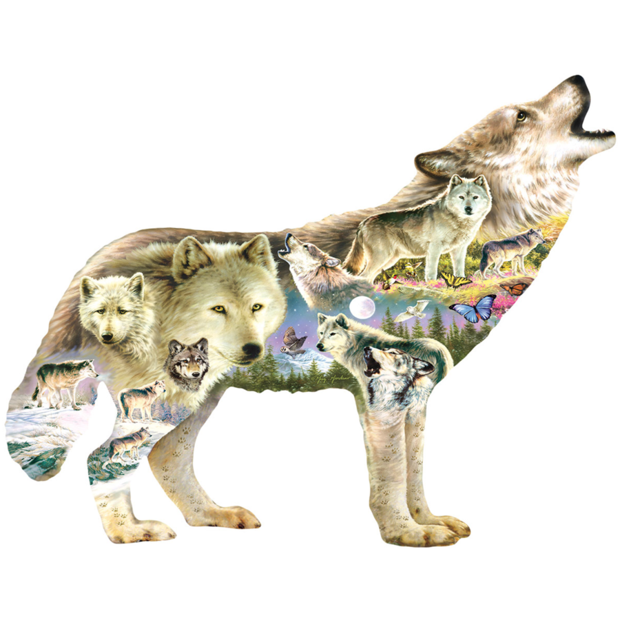 Meadow Wolf - legpuzzel van 750 stukjes-1