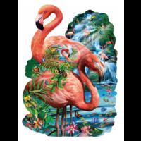 Flamingo vijver - legpuzzel van 1000 stukjes
