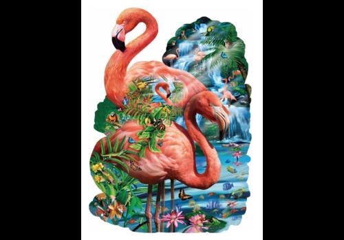Flamingo vijver - 1000 stukjes