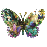 Papillon de forêt - puzzle de 1000 pièces