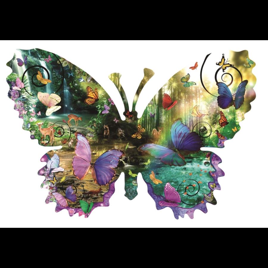Papillon de forêt - puzzle de 1000 pièces-1
