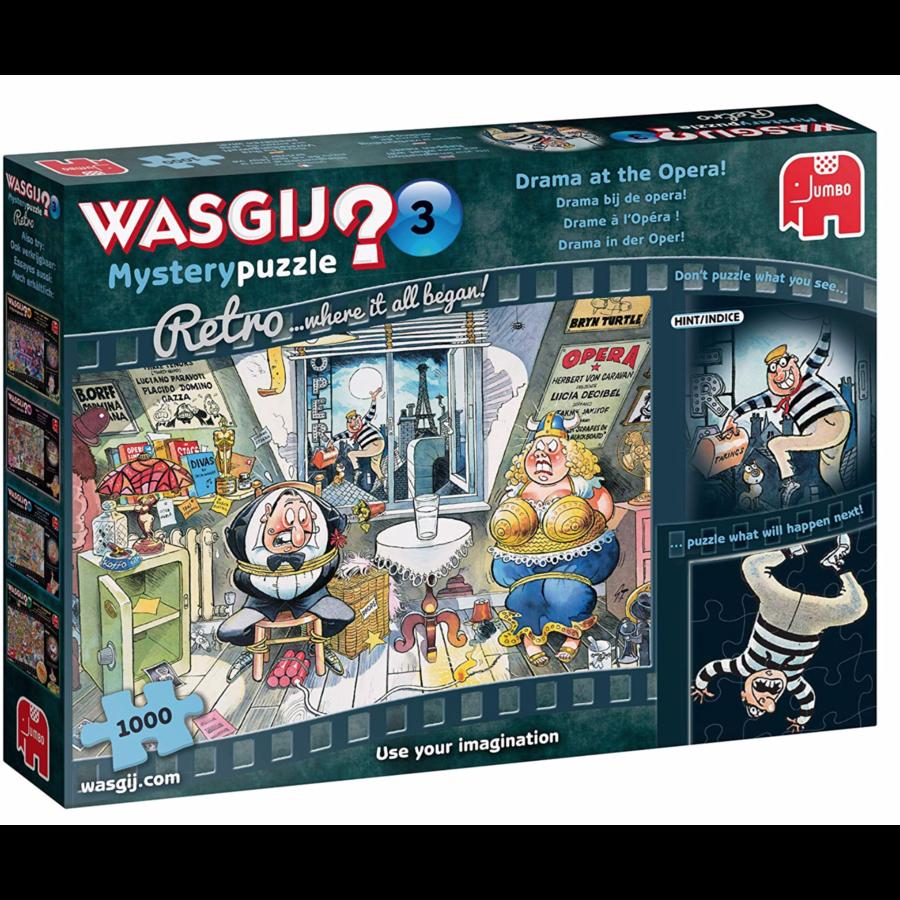 Wasgij Mystery 3 Retro - Drama at the Opera! - 1000 pieces-3