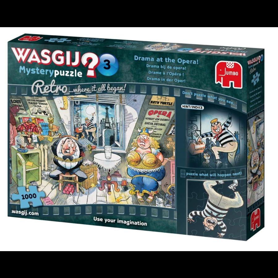 Wasgij Mystery 3 Retro - Drama at the Opera! - 1000 pieces-4