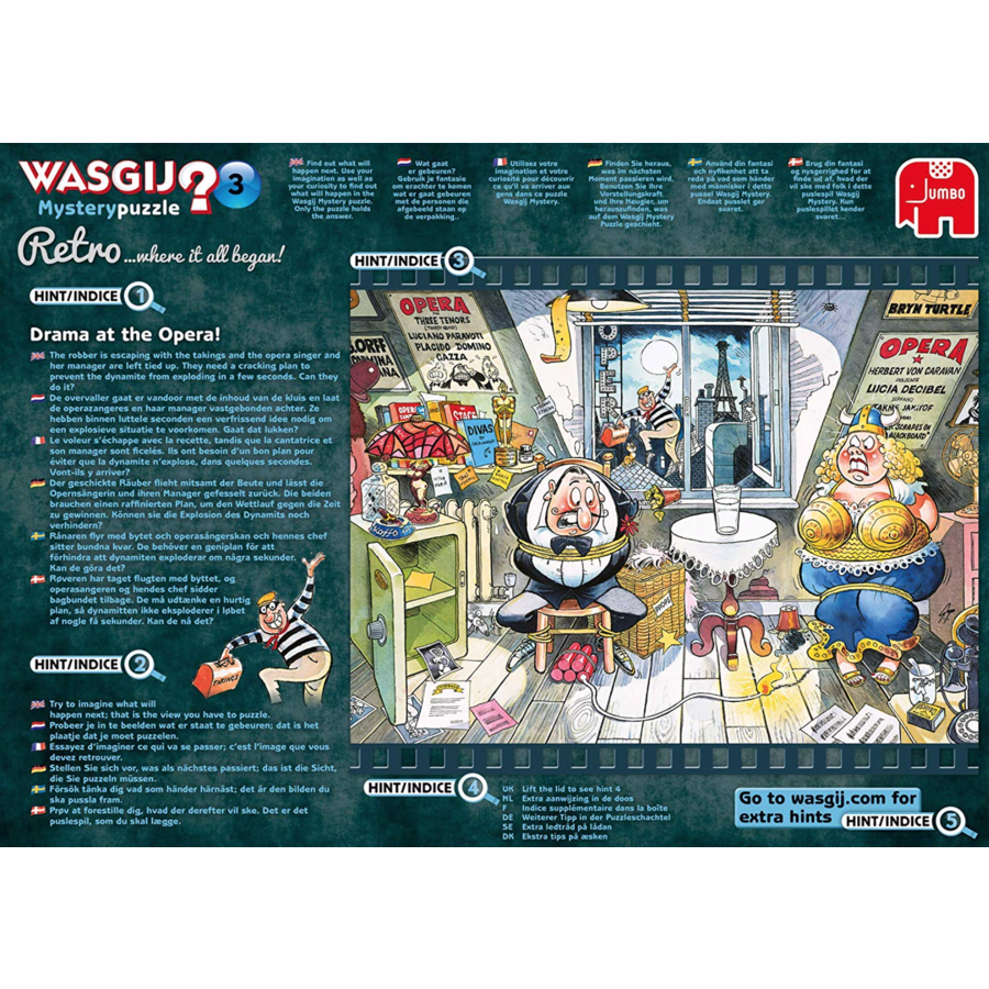 Wasgij Mystery 3 Retro - Drama at the Opera! - 1000 pieces-5