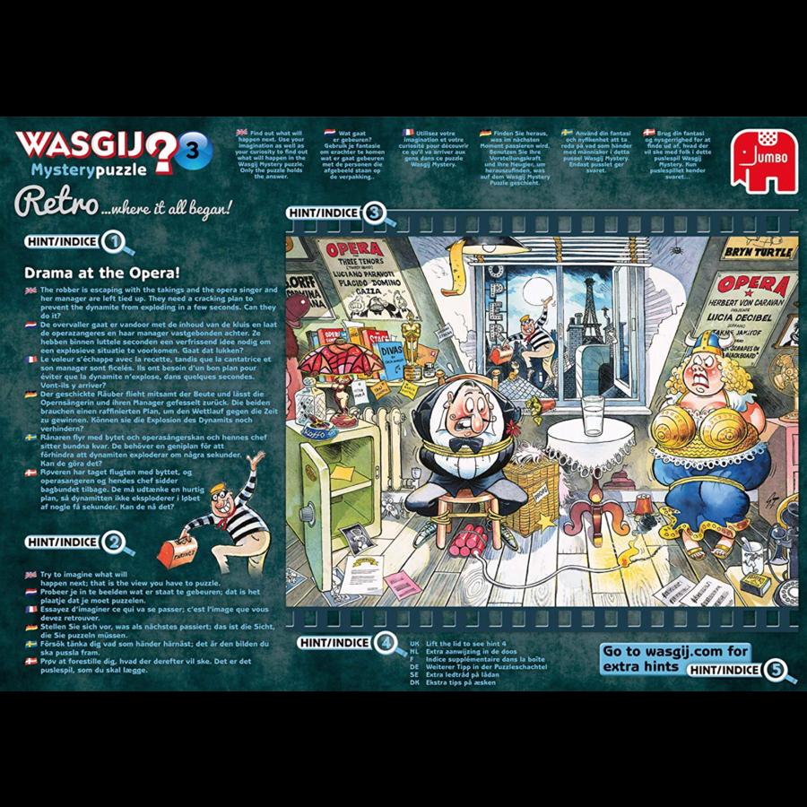 Wasgij Mystery 3 Retro - Drama bij de opera! - 1000 stukjes-5