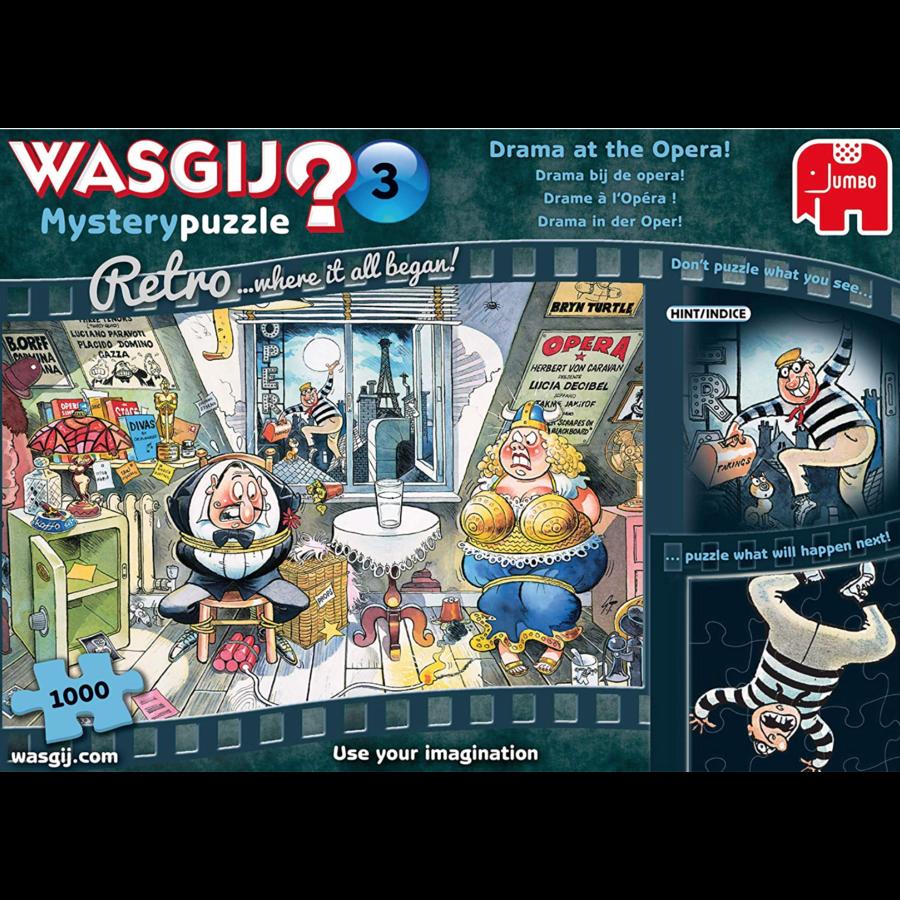 Wasgij Mystery 3 Retro - Drama bij de opera! - 1000 stukjes-1
