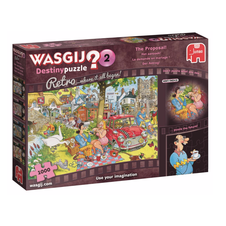 Wasgij Destiny 2 Retro - The Proposal! - puzzle of 1000 pieces-1