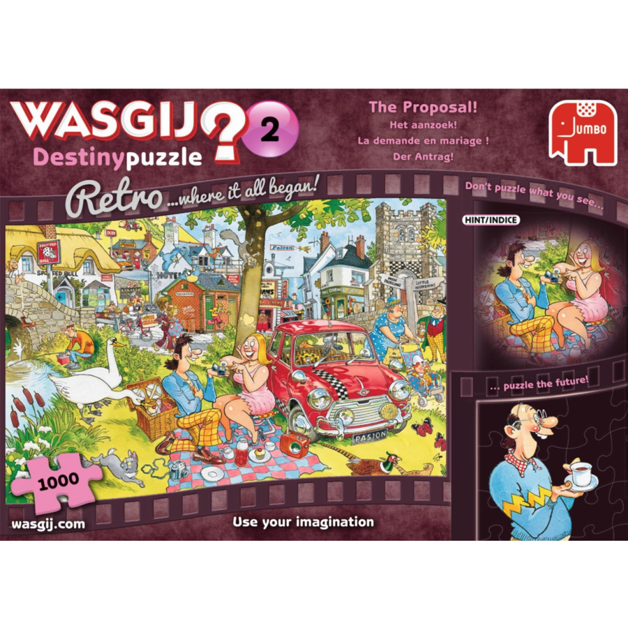 Wasgij Destiny 2 Retro - The Proposal! - puzzle of 1000 pieces-2