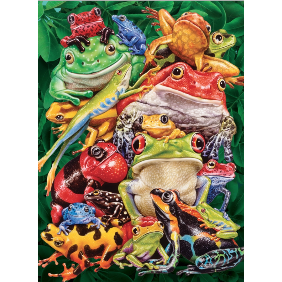 Frog Business  - puzzle of 1000 pieces-1