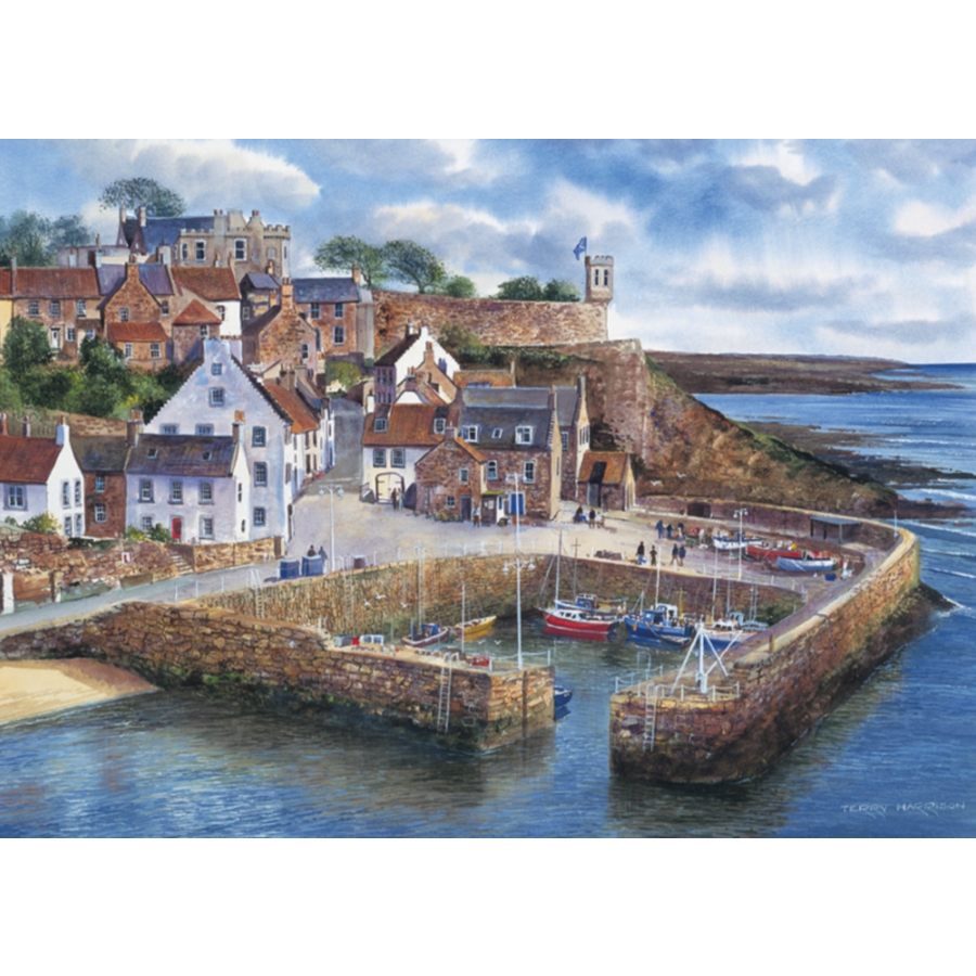 Crail Harbour  - jigsaw puzzle of 1000 pieces-1