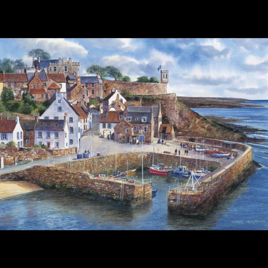Haven in Schotland - puzzel van 1000 stukjes-1