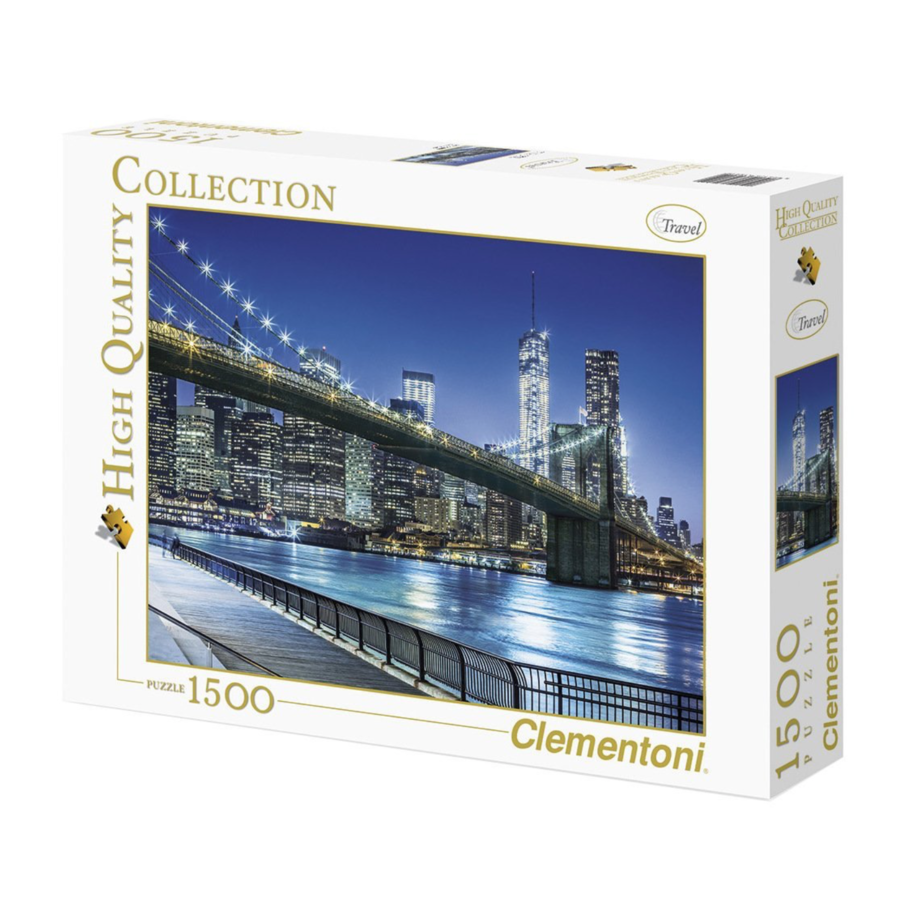 New York by night - puzzle of 1500 pieces-2