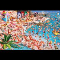 thumb-Het strand - Comic - puzzel van 1000 stukjes-1