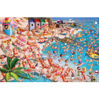 thumb-The beach - Comic - puzzle of 1000 pieces-1