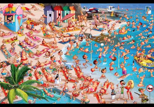 Het strand - Comic - 1000 stukjes
