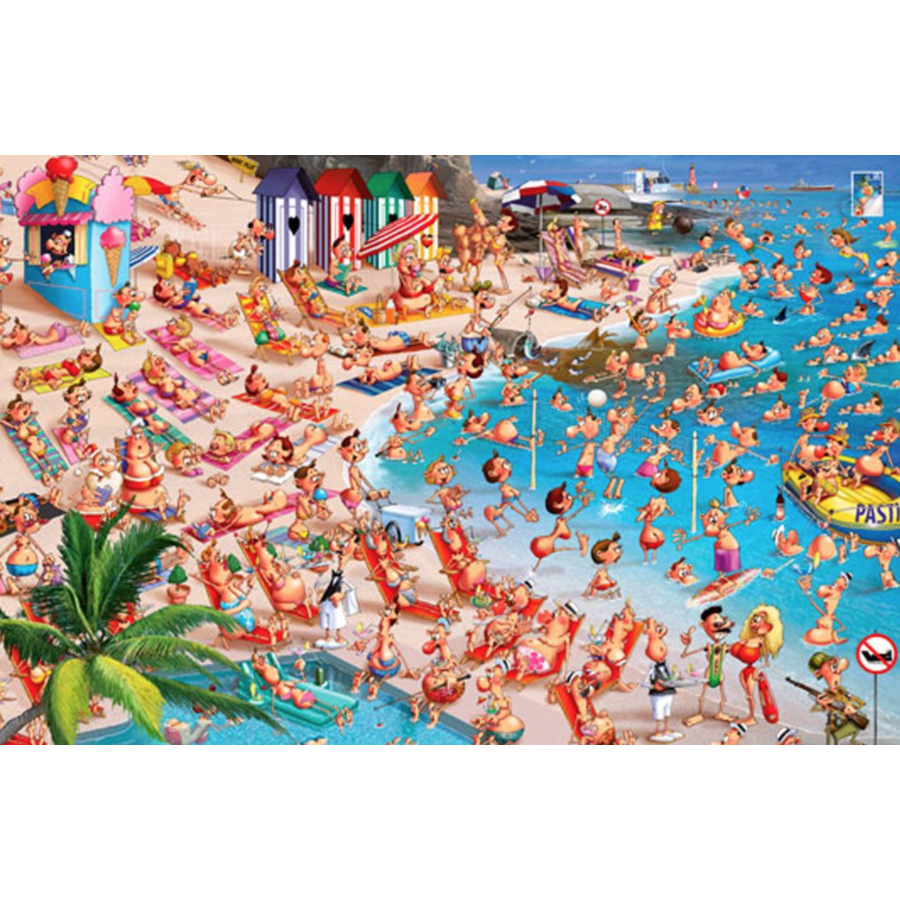 The beach - Comic - puzzle of 1000 pieces-1