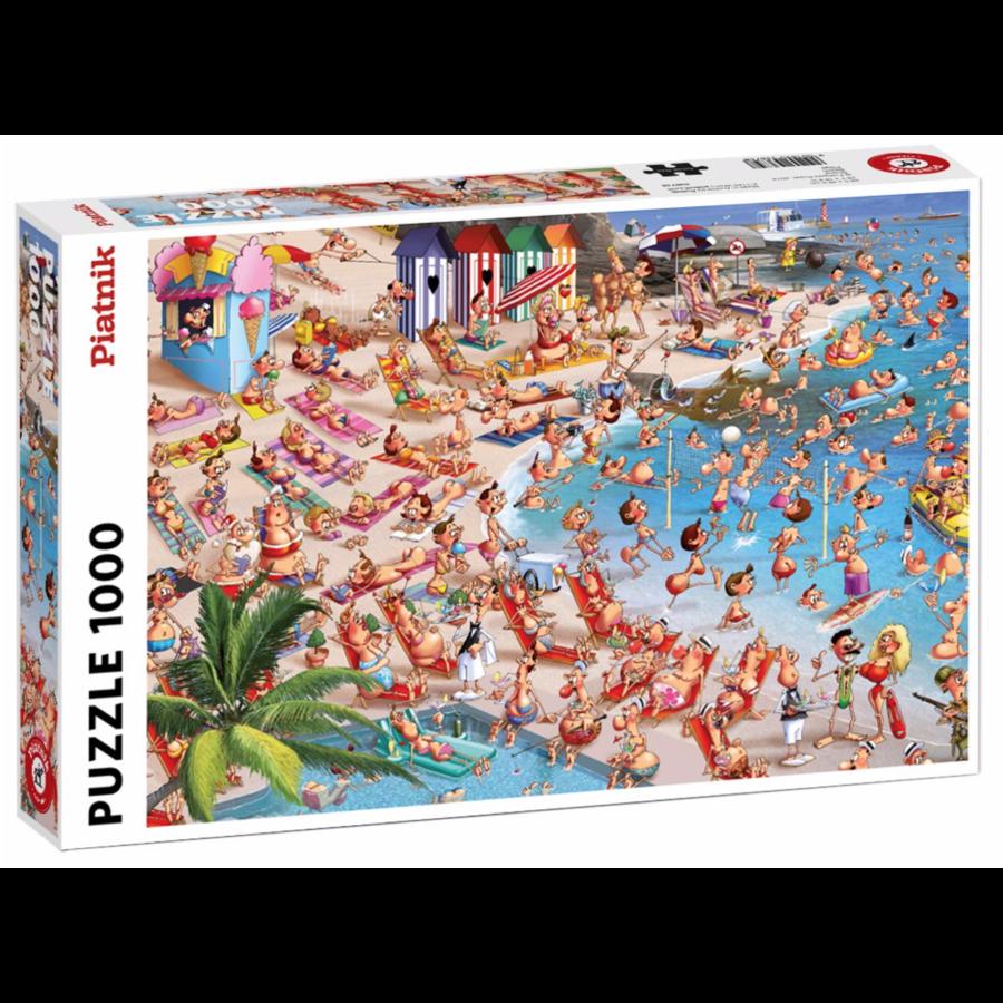 Het strand - Comic - puzzel van 1000 stukjes-2