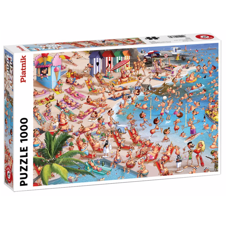 The beach - Comic - puzzle of 1000 pieces-2