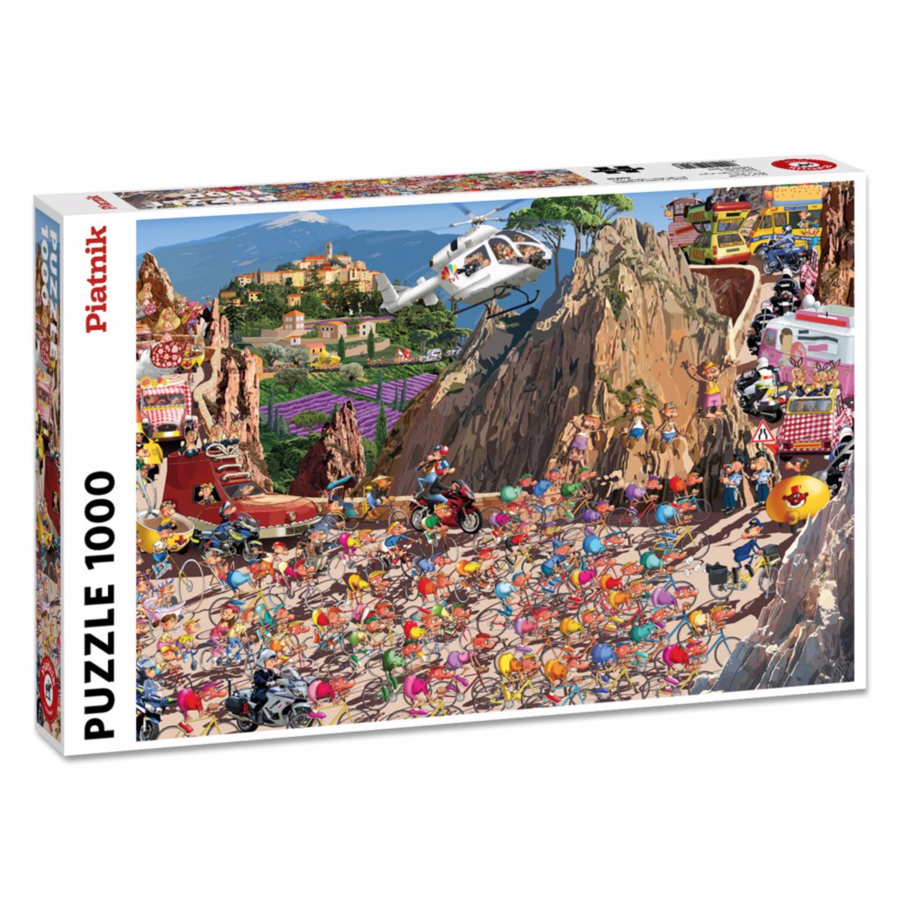 Bicycle Race - Comic - puzzle of 1000 pieces-2