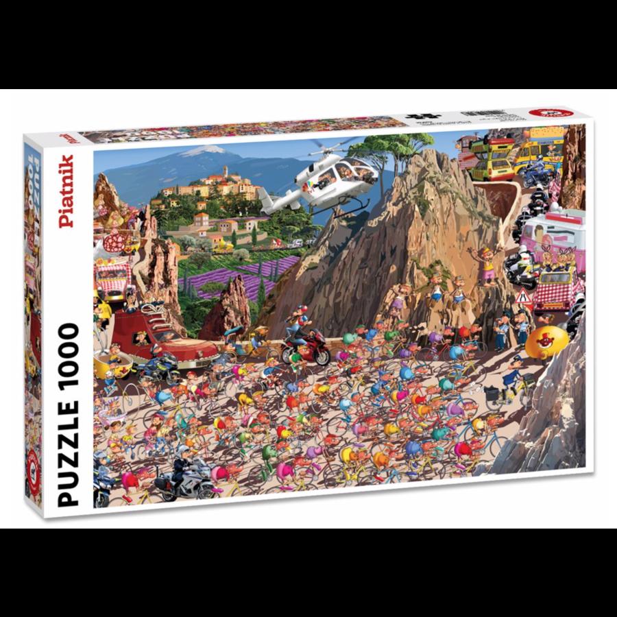 De wielerwedstrijd - Comic - puzzel van 1000 stukjes-2