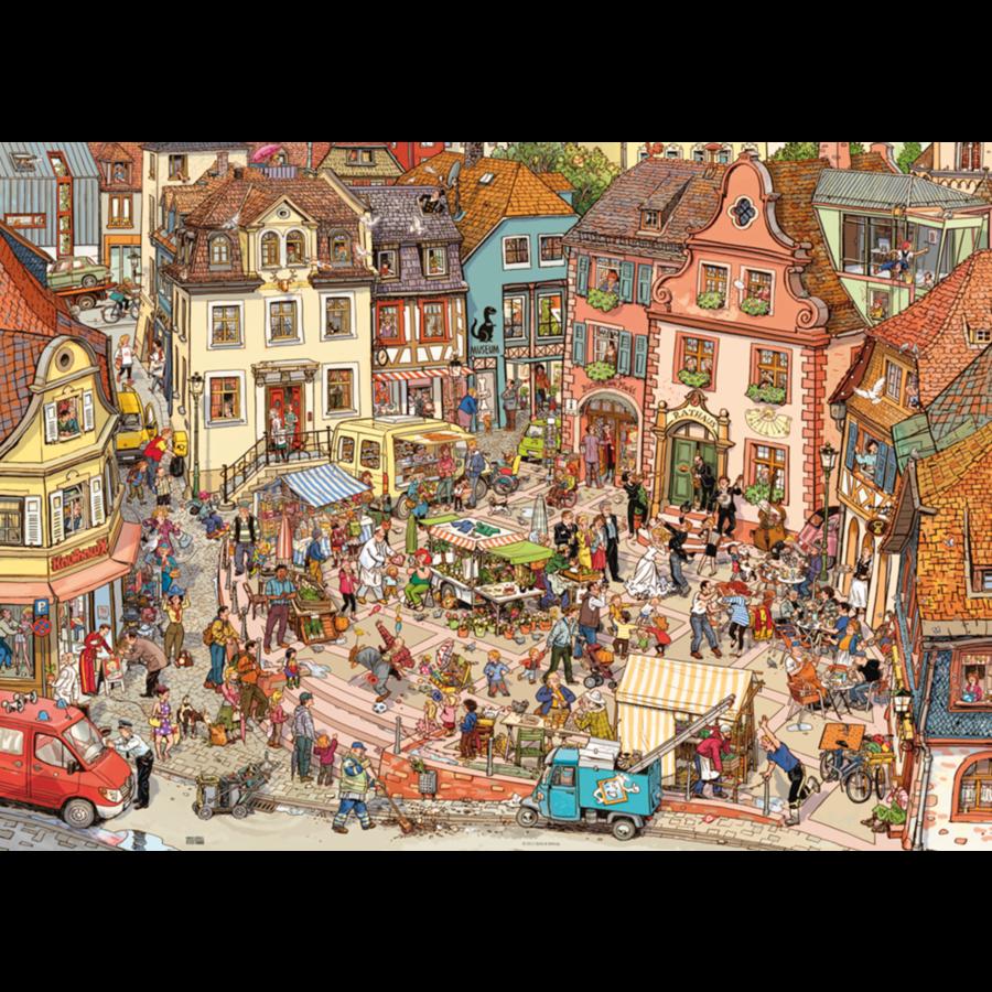 De grote markt - puzzel van 1000 stukjes-2