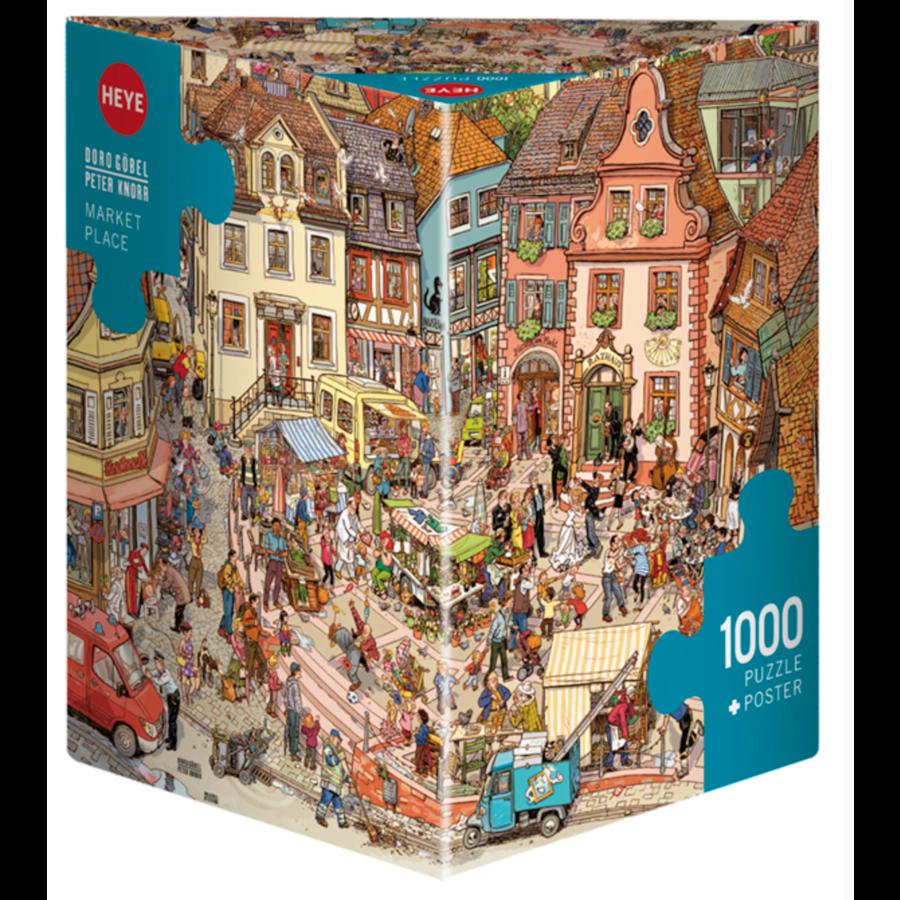 De grote markt - puzzel van 1000 stukjes-1