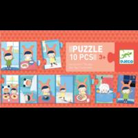 thumb-De dag - puzzel van 10 stukjes-1