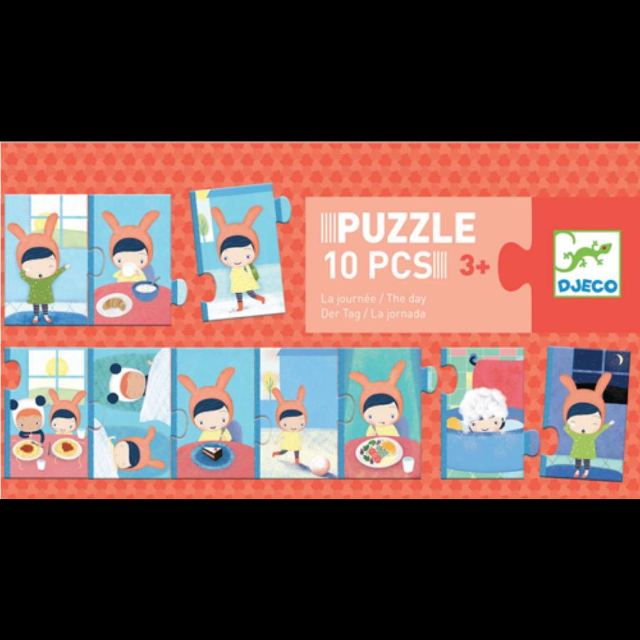 De dag - puzzel van 10 stukjes-1