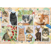 thumb-Cats Stamps - puzzle of 1000 pieces-1