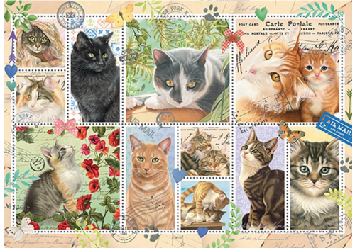 Cats Stamps - 1000 pieces