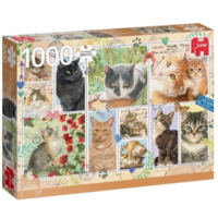 thumb-Cats Stamps - puzzle of 1000 pieces-2