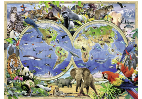 Le monde de la faune - 300 pièces