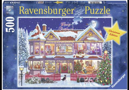 Het kersthuis - 500 stukjes