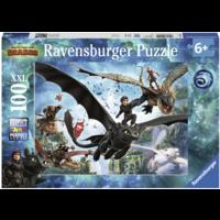 thumb-Dragons 3 - De verborgen wereld - puzzel van 100 stukjes-1