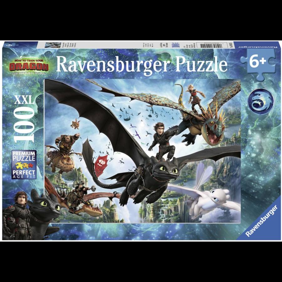 Dragons 3 - De verborgen wereld - puzzel van 100 stukjes-1