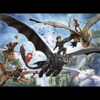 thumb-Dragons 3 - De verborgen wereld - puzzel van 100 stukjes-2