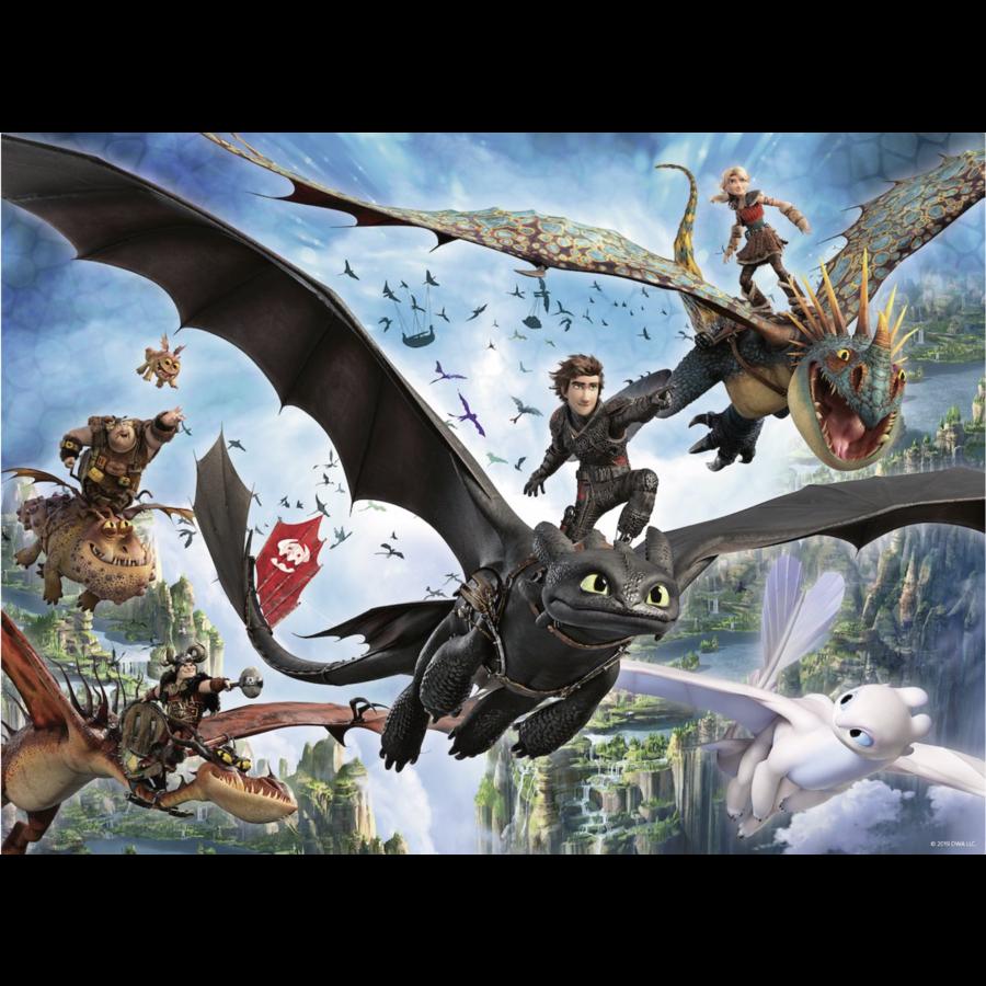 Dragons 3 - De verborgen wereld - puzzel van 100 stukjes-2