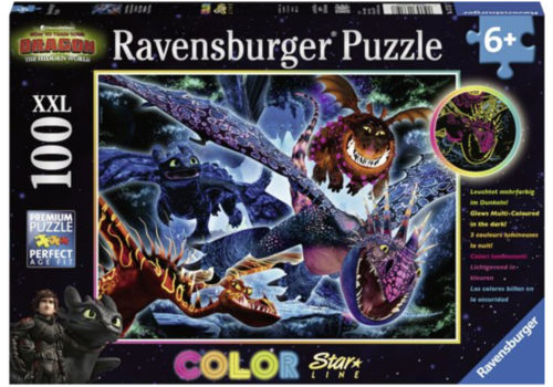 Dragons 3 -  Glow in the Darkd - 100 pieces