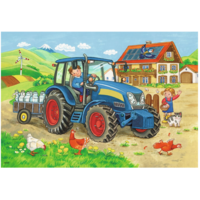 thumb-Op de bouwplaats en boerderij - 2 puzzels van 12 stukjes-3