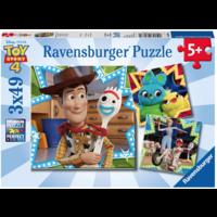 Toy Story  - 3 puzzels van 49 stukjes