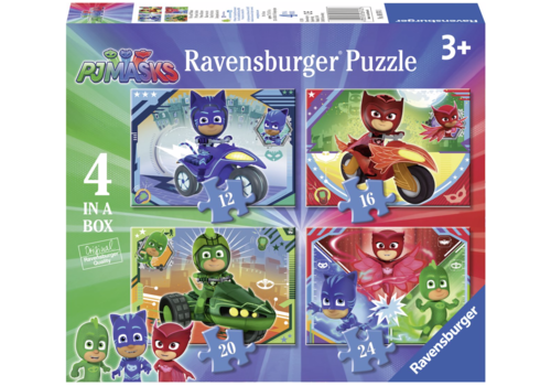 PJ Masks - 12 + 16 + 20 + 24 pieces