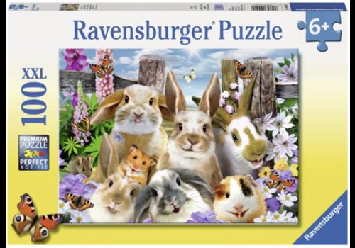 Ravensburger Selfie de lapins  - 100 pièces