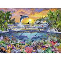 thumb-Tropisch paradijs - puzzel van 100 stukjes-1