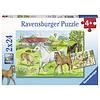 Ravensburger Op de manege - 2 puzzels van 24 stukjes