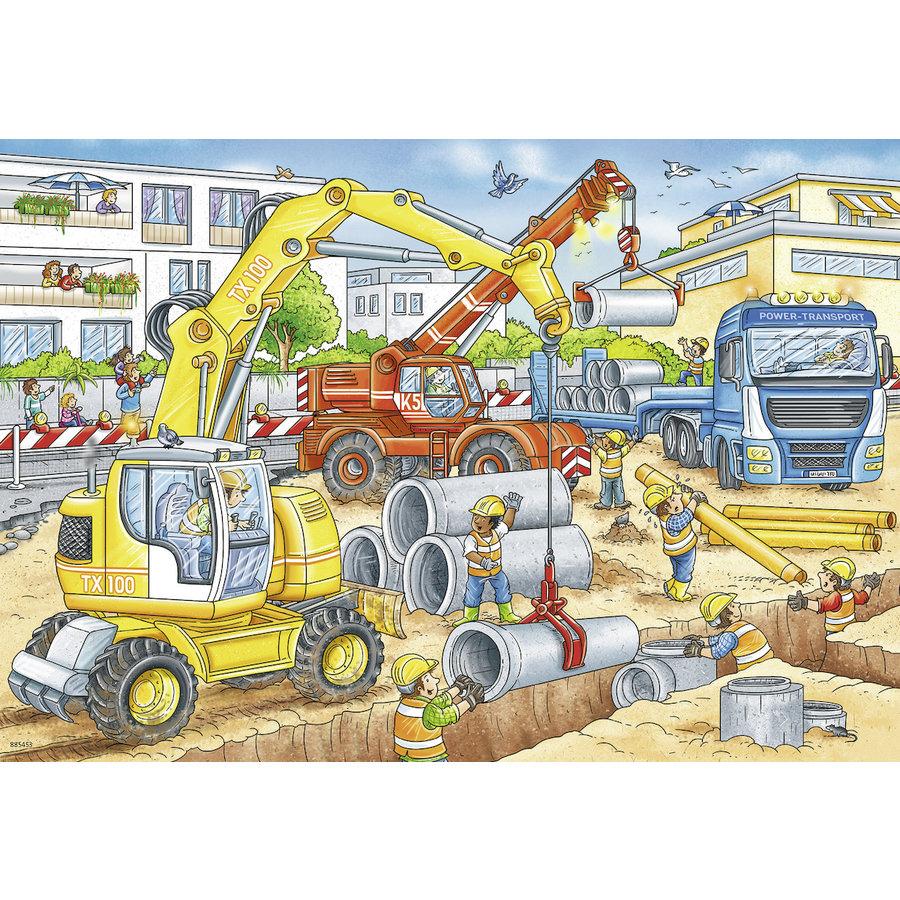 Pas op, wegwerkzaamheden - 2 puzzels van 12 stukjes-2