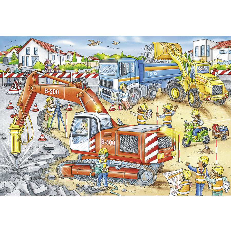 Pas op, wegwerkzaamheden - 2 puzzels van 12 stukjes-3