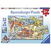 Ravensburger Pas op, wegwerkzaamheden - 2 puzzels van 12 stukjes