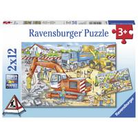 thumb-Pas op, wegwerkzaamheden - 2 puzzels van 12 stukjes-1