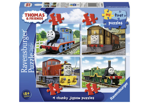 Thomas de trein - Puzzels 2, 3, 4 en 5 stukjes